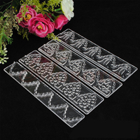 DIY candy mold 4 transparent lace ribbons embossed mold candy shape cake decorating fondant lace decor tools free shipping