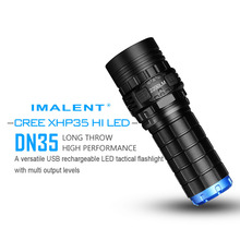 IMALENT DN35 USB Rechargeable Flashlight CREE XHP70 2200 Lumens LED Waterproof flashlight IPX-8 by 26650 Battery