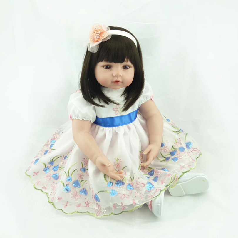 2016 Cotton Body Silicone Reborn Fashion Dolls Reborn Babies Brinquedos For Christmas Children House Player Baby Doll Toy new lovely reborn babies silicone dolls reborn cotton body princess doll girls toy for christmas and new year baby brinquedos