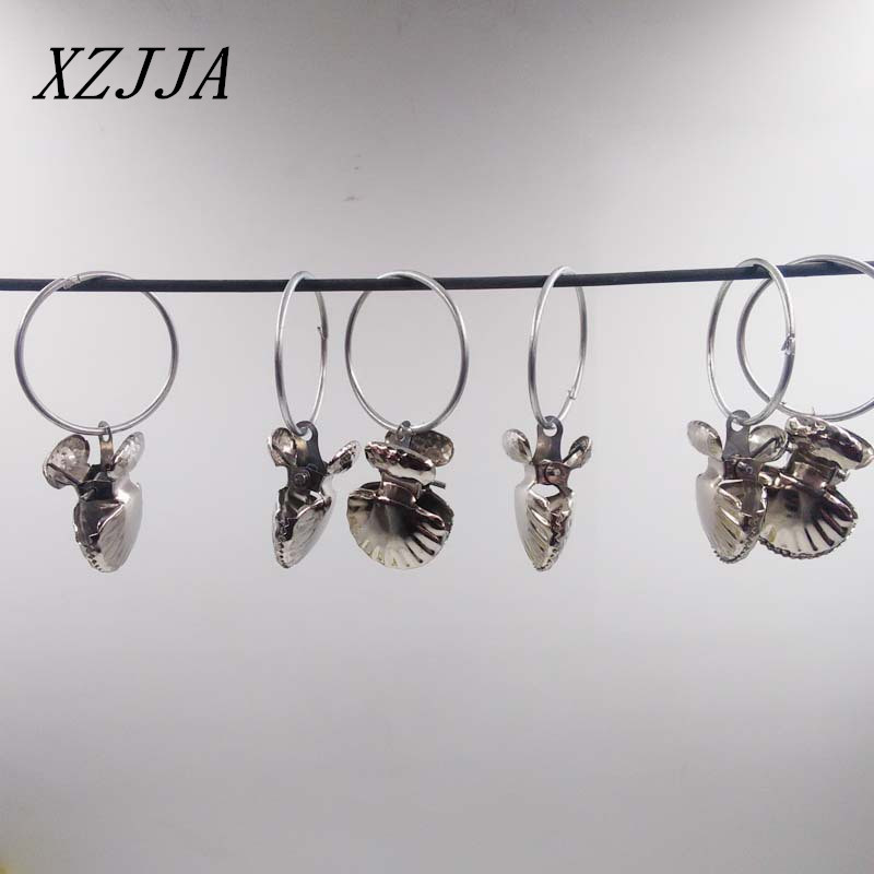 8pcs/pack Stainless Steel Shell Shape Curtain Rod Clips Window Shower  Curtain Rings Clamps Drapery
