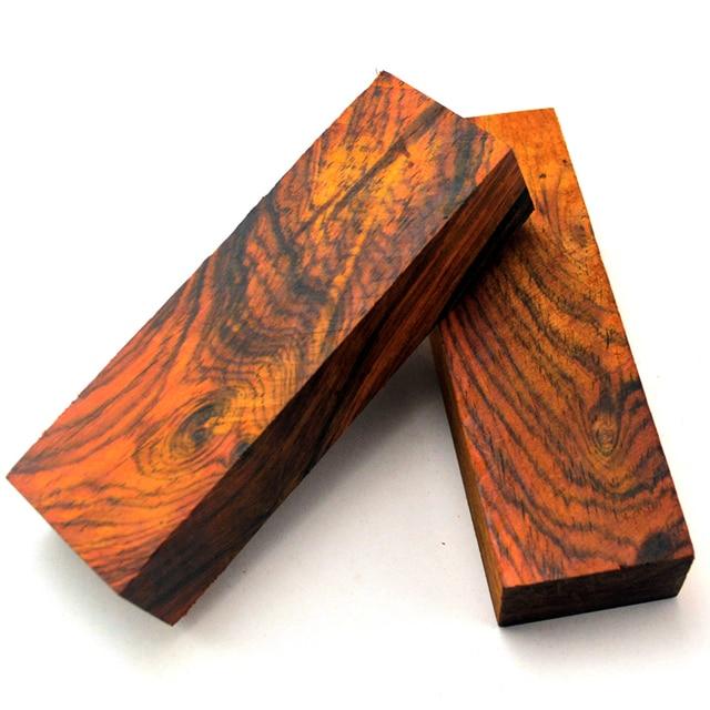 EDC manche de couteau en bois puce matériau de couteau bricolage cœur en bois