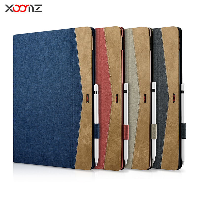 XOOMZ Brand Case for iPad Pro 12.9 2017, Denim PU Leather Ultra Slim Cover Case for iPad Pro 12.9 inches Fundas Tablet Cover стоимость