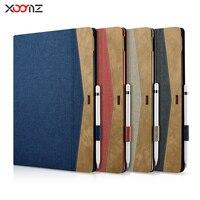 XOOMZ Brand Case For IPad Pro 12 9 2017 Denim PU Leather Ultra Slim Cover Case