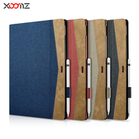 XOOMZ Brand Case For IPad Pro 12 9 2017 Denim PU Leather Ultra Slim Cover Case