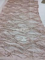 Neue Design Nigerianischen Spitzenstoff rose gold 2017 Lila Farbe Französisch Tüll Glitter Spitze Stoff Für Hochzeitskleid