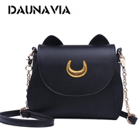 Samantha Vega 20Y Limited Sailor Moon Bag Ladies Handbag Black White Cat Luna Moon Women Messenger
