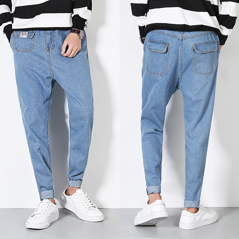 Tide Solid Midweight Pencil Pants Mid Softener Direct Selling New Men's Jeans 2017 Free Shipping Big Lantern Boy Wash Pants free shipping 10pcs aml8726 m tablet mid master direct shot