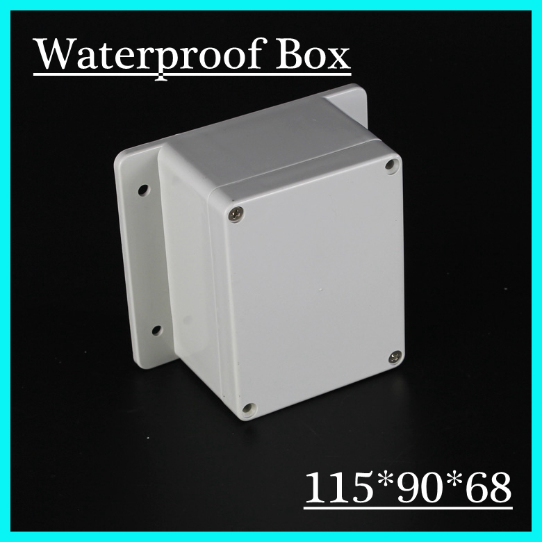 (1 piece/lot) 115*90*68mm Grey ABS Plastic IP65 Waterproof Enclosure PVC Junction Box Electronic Project Instrument Case 1 piece lot 320x240x110mm grey abs plastic ip65 waterproof enclosure pvc junction box electronic project instrument case