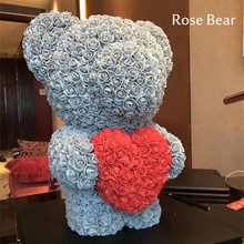 2018 Valentines Day Gift 60cm Rose Bear Wedding Party Decoration Cute Cartoon Super Girlfriend Kid Love Dolls Present