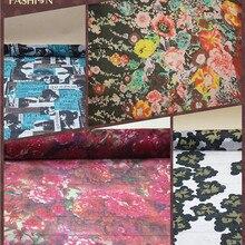 DD# шелк шифон ткани для платья шелковые шарфы с принтом, цвет: как на фотографии, ширина: 130 см, толщина: 5-6 мм, распродаем Модели 3M