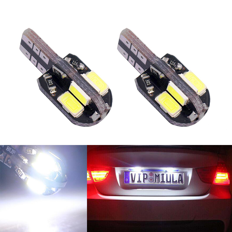 2x T10 W5W Error free License Number Plate Light For Toyota Corolla Avensis Yaris Rav4 Hilux Prius image