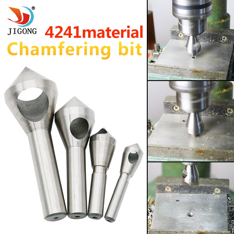 4pcs Countersink Deburring Drill Bit Metal Taper Stainless Steel Hole Saw Cutter Chamfering Power Drills Tool 6542 m2 countersink deburring drill bit 5 10mm broca metal taper stainless steel hole saw cutter chamfering power drills tool