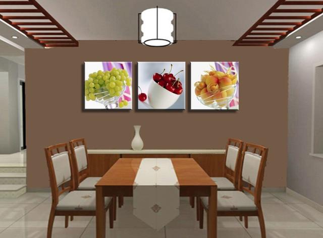 3 Paneles Sin Marco Fruta Cocina Restaurante Decorado Grande HD ...