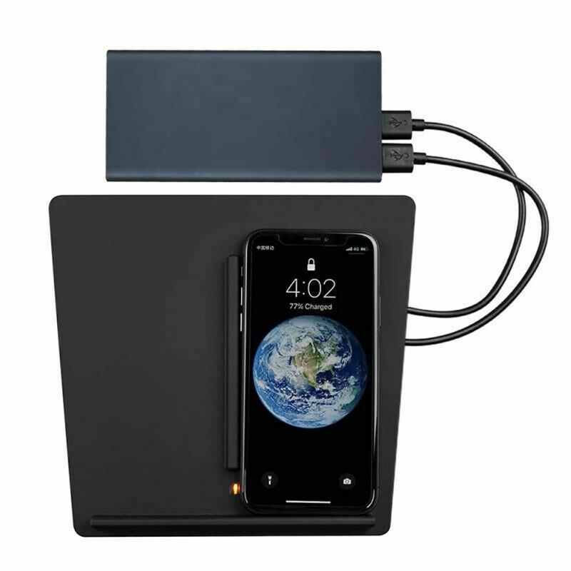 Chargeur sans fil rapide support de charge USB support de voiture Qi double téléphones chargement Console centrale Dock pour Tesla modèle 3 iPhone Xiaomi