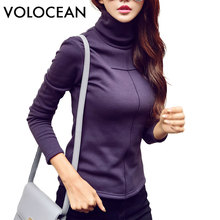 Volocean New 2017 Thick T-shirts For Women Keep Warm Female T-shirt Autumn WinterT Shirt Women Female Plus Size Tops Tee