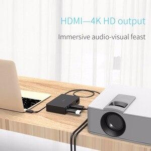Image 5 - オリコ usb ハブタイプ c ユニバーサルドッキングステーション 6 USB3.0 A ポートとタイプ c pd dc 12 v RJ45 hdmi 4 18k ハイエンド拡張ドック