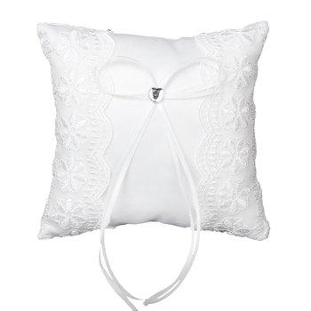 Almohada De Anillo De Boda Almohada Cojin Blanco De 15cm x 15cm