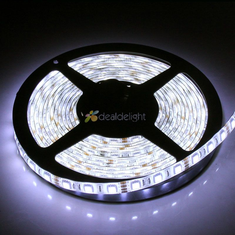5m 5050 300 SMD IP65 Bande LED étanche, bande de LED flexible 60V / 60led / m, blanc / blanc chaud / bleu / vert / rouge / jaune / RGB