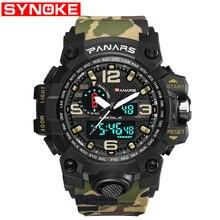 Men Military Watch 50m Waterproof Wristwatch LED Quartz Clock Sport Male relogios masculino S Shock