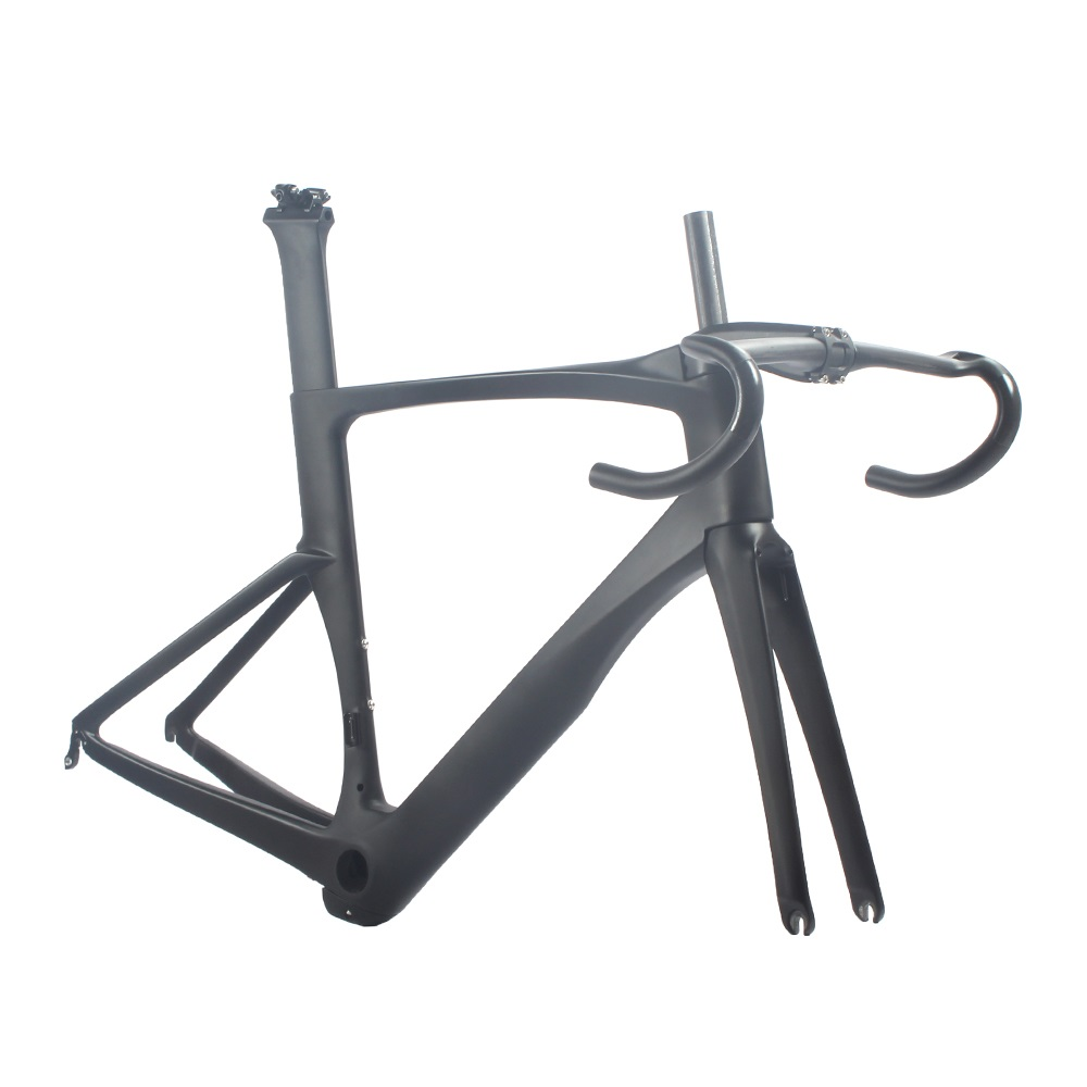 UCI bicycle frame carbon road bike aero frameset 2018 700C 46cm rolling stone attack carbon 700c road bicycle aero frame fork set uci approved 46cm 49cm 52cm