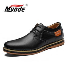 Big Size Nieuwe Mannen Flats Casual Lederen Schoenen Mannen Mode Lace Up Oxford Schoenen Voor Mannen Jurk Kantoor Schoenen Mannen chaussure Homme