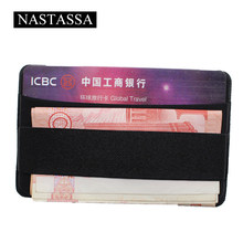 Elastic Lycra Cell Phone Wallet Case Credit ID Card Holder Pocket Stick On 3M Paper Card Holders(China)