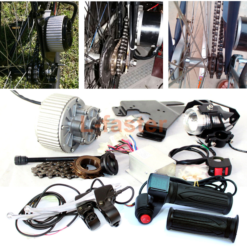 450W UPGRADED ELECTRIC BICYCLE BRUSH MOTOR LED LENS ELECTRIC BIKE HEADLIGHT THROTTLE WITH RED SWITCH BRAKE