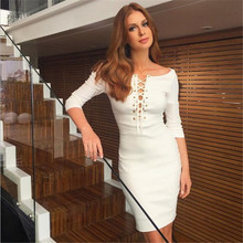 Robe Hot Sale Polyester Brief Solid Dress Plus Size 2017 The New Dress In Chest Bind Hollow Out Sleeve Package Hip Women