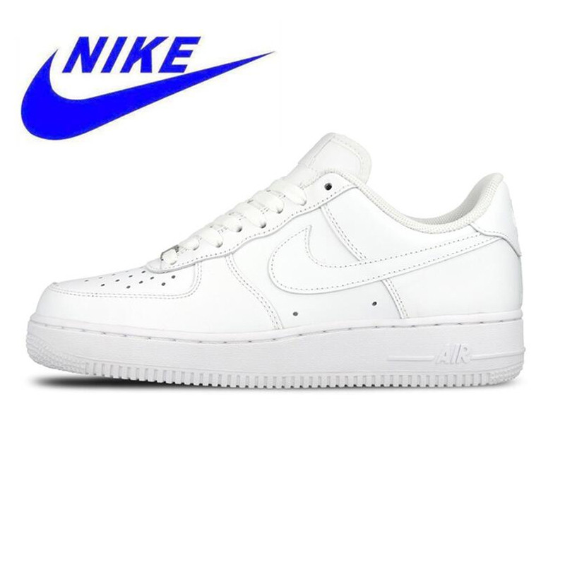 420be7fabe8caa MEN S NIKE AIR FORCE 1 ONE LOW ORIGINAL SNEAKERS WHITE BLACK LEATHER ...