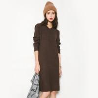 2017 Autumn New Sweater Korean Elasticity Was Thin Round Collar Slim Shirt Female M67