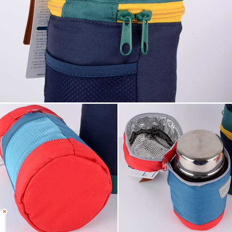Child Baby Cartoon Food Feeding Cup Bottle Thermal Bag Keep Warm Thermol Thermos Thermo Storage Insulation Bag