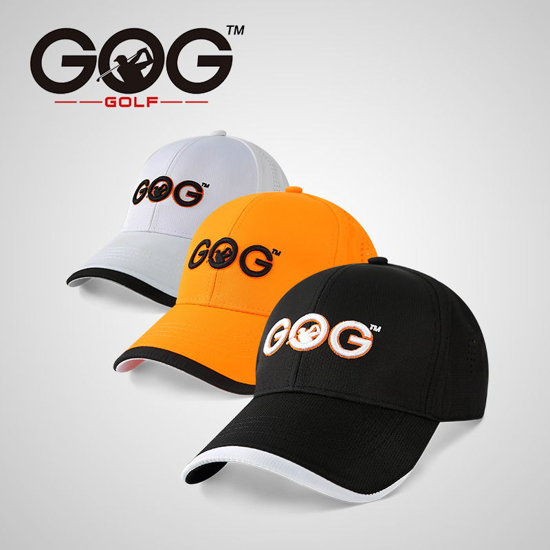 Free Shipping GOG golf cap golf hat polyester Snapback Sunscreen Caps Baseball sports hats Unisex Adjustable for men women