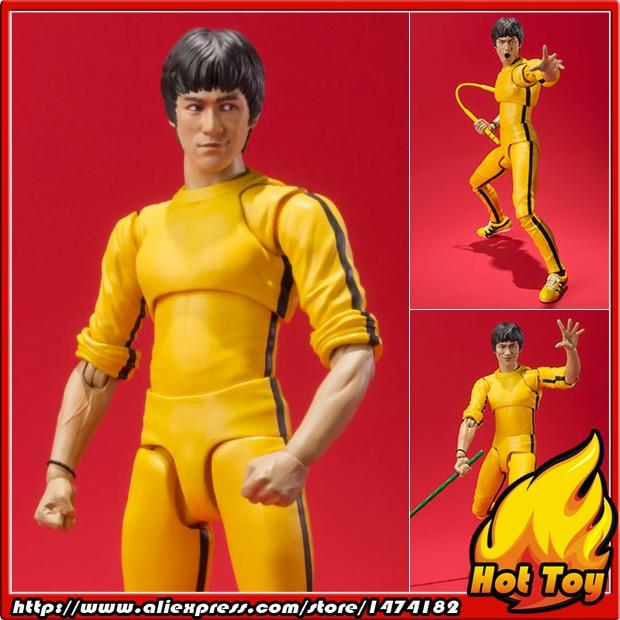 100% Original BANDAI Tamashii Nations S.H.Figuarts (SHF) <font><b>Action</b></font> <font><b>Figure</b></font> - Bruce Lee (Yellow Track Suit)
