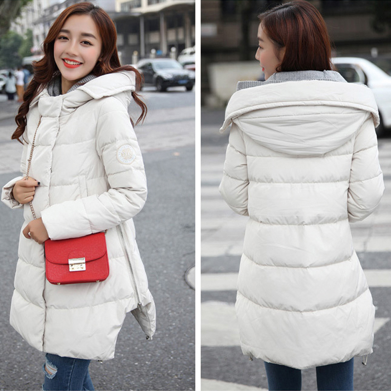 2018 New Women Winter Maternity Down Jacket Pregnant Clothing Coat Slim Long Down Jacket Cotton Outerwear Maternity Coats Black maternity winter coat down cotton padded down jacket for pregnant women long section outerwear coat hooded pregnancy clothing