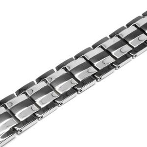 Image 3 - Escalus Mens Pure Titanium Magnetic Bracelet For Men 4in1 Magnets Negative Ions Germanium Health Bracelets jewelry