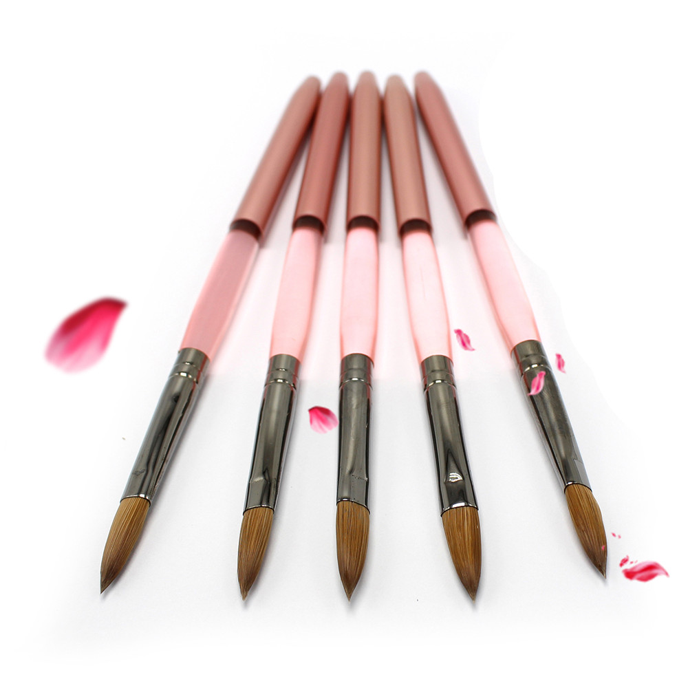 Eval Nail Art Tool 8# Kolinsky Acrylic Nail Pen Sable Brushes for Nail Professional Paint Brush Nail Brush patrisa nail фольга черное кружево 8