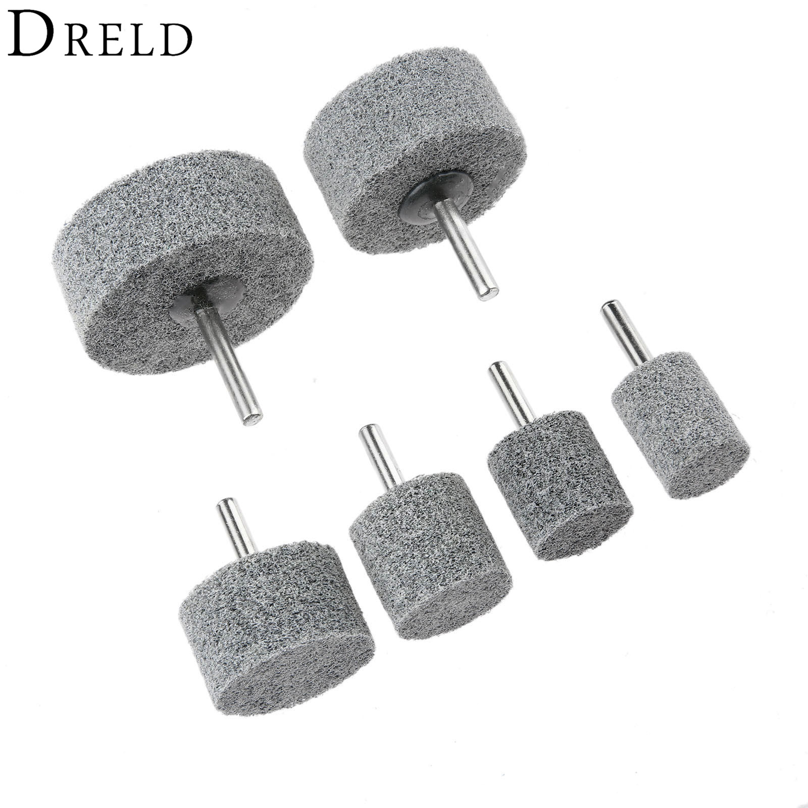 DRELD 6mm Shank Fiber Nylon Mounted Point Grinding Head For Buffing Polishing Grinder Rotary Tools 20mm-60mm Dremel Accessories