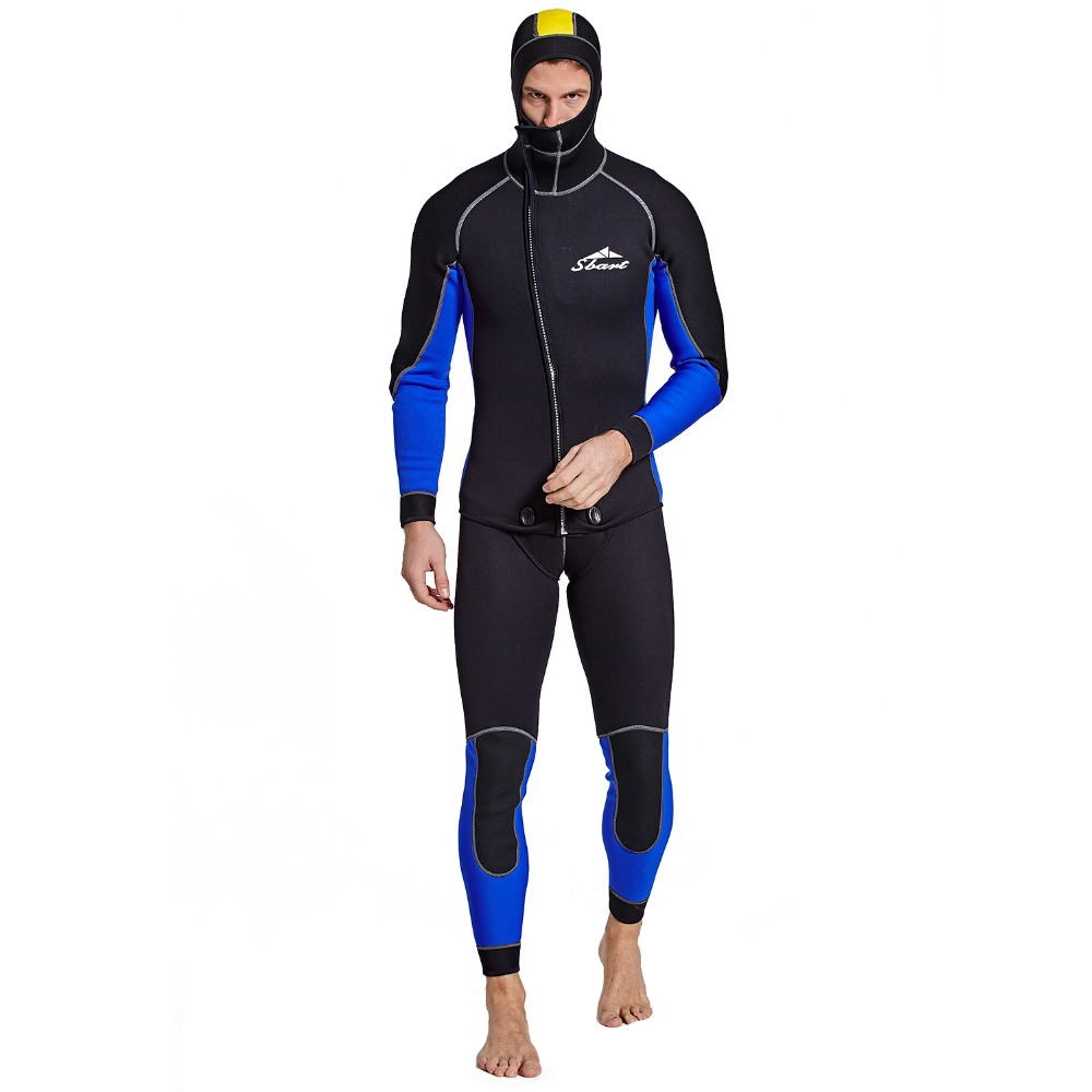 SBART 3MM Men s Professional Wetsuit Keep Warm Surf Clothes Two Pieces Snorkeling Suit with Hood