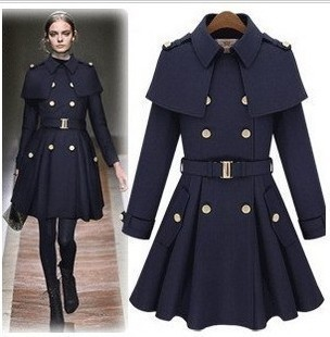 Free Shipping Military Wool Coats Women Long Jacket Dress Double ...