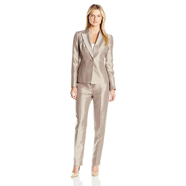 99e3e2832e62 Giacca Pantaloni Skinny Brown Affari Pant abiti Da Sera Delle Donne  Eleganti per Donna Autunno Pantaloni