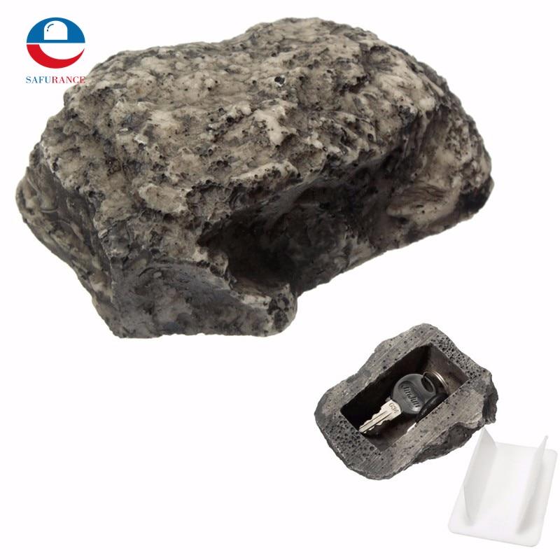 NEW  Key Box Rock Hidden Hide In Stone Security Safe Storage Hiding Outdoor Garden  Dura ...