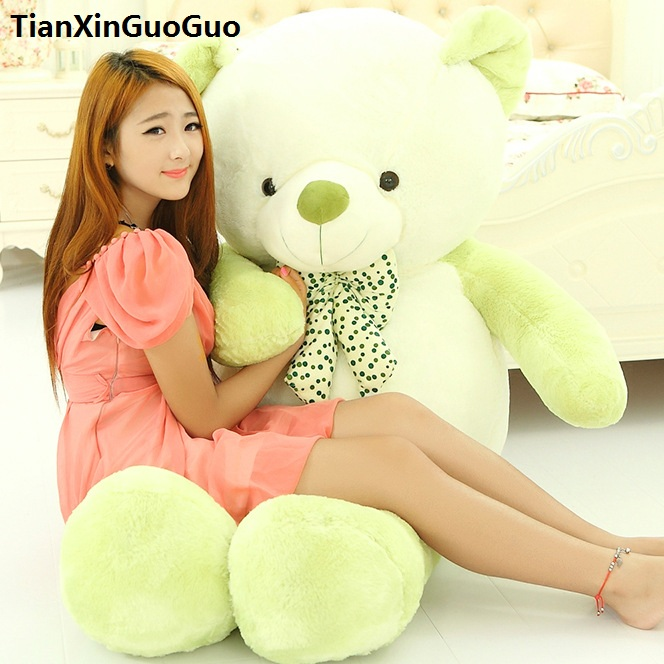 new arrival large 120cm cartoon green teddy bear plush toy soft doll throw pillow birthday gift b2879 купить