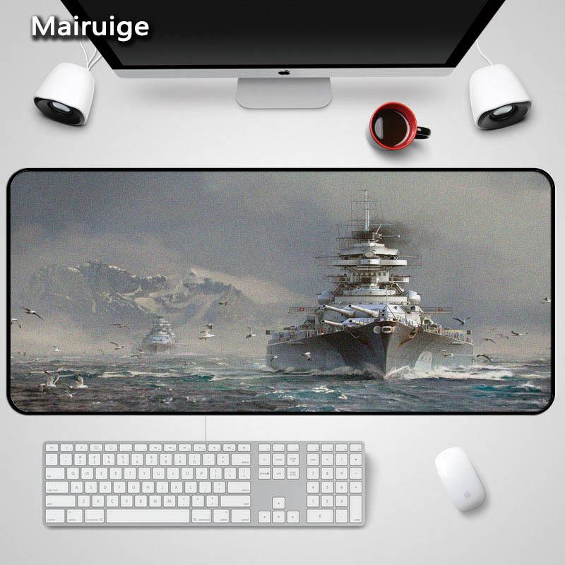 Mairuige Hot Game World Of Warship Naval Battle Large Size Mousepad Anti-slip Rectangle Mice Mat Design Dota2 Csgo Gaming Mats