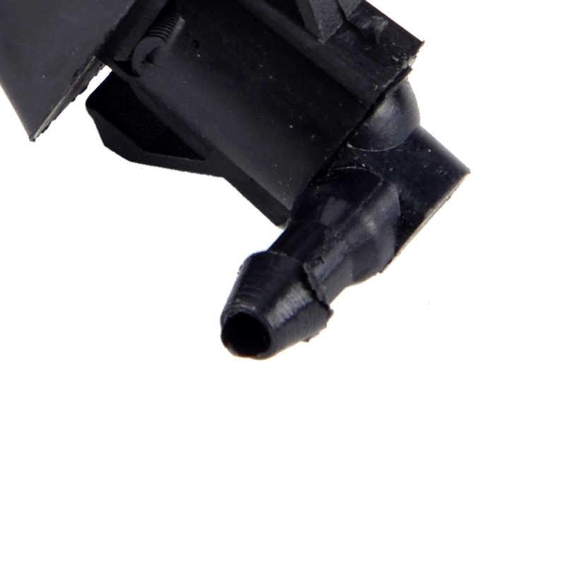 2 stuks Zwart 2 Gaten Voorruit Ruitenwisser Water Washer Spray Jet Nozzle fit voor Mazda 3 5 6