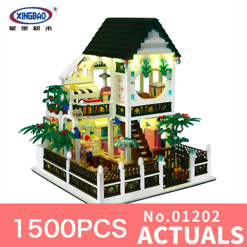 XingBao 01202 1500Pcs Creative With USB light Series The the Romantic heart Set Education Building Blocks Bricks DIY Toys model wange mechanical application of the crown gear model building blocks for children the pulley scientific learning education toys