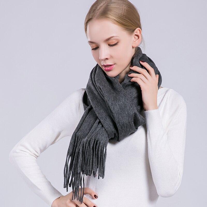Warm 100% Lamb Wool Scarf For Women Wool Pashmina Bandana Winter Spring Ladies Scarves Long Women Scarf Shawls Female Foulard