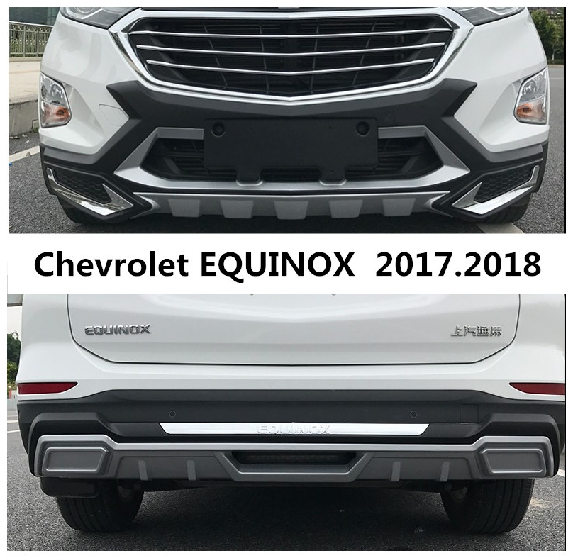 For Chevrolet EQUINOX 2017.2018 Bumper Protector Guard Anti-impact Plate High Quality Brand New ABS Front+Rear Car Accessories shineka car accessories rear trunk guard rear bumper trunk door protector for chevrolet equinox 2017