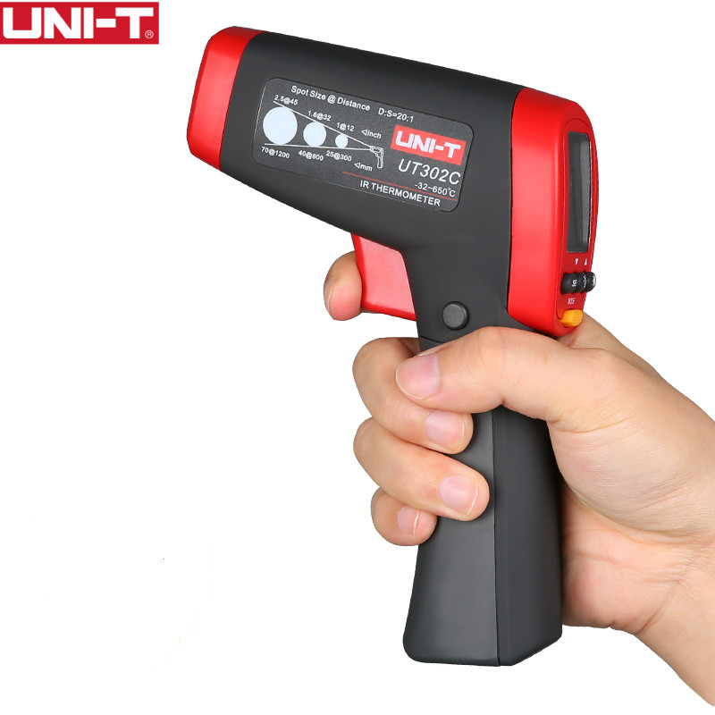 UNI-T UT302C  Infrared Thermometer measure temperature from a distance EASY to carry non-contact fast test temperature корпус in win emr002 450w black silver