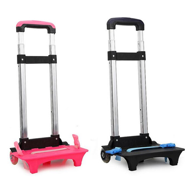 1aec9503f9a9 US $45.73 |Luggage Cart Travel Accessories 3 Wheels 2 Wheels Rolling Cart  Removable Trolley Kids Schoolbag Luggage Carts for Girls and Boys-in Bag ...