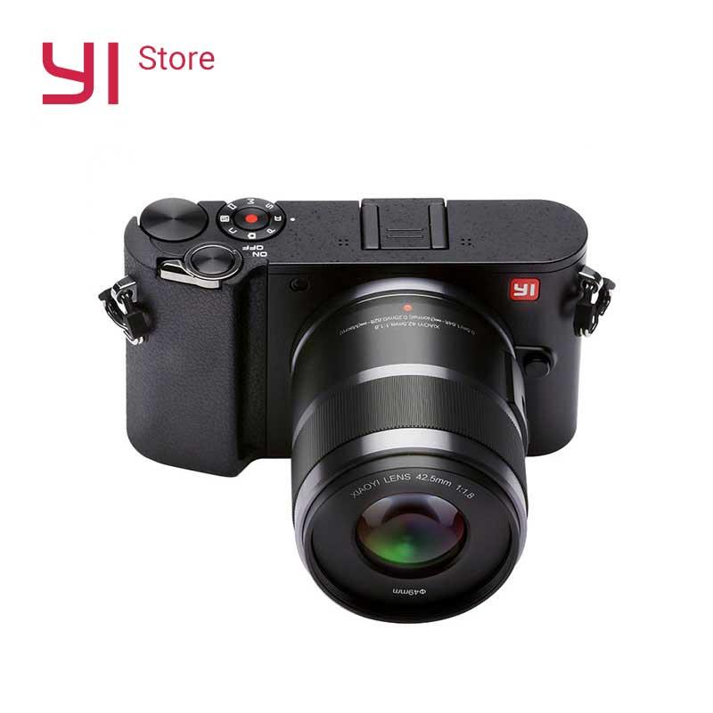 YI M1 Mirrorless Digital Camera 720RGB H264 With YI 12-40mm F3.5-5.6 Zoom Lens LCD RAW 20MP Video Recorder International Version original yi m1 wifi 4k digital camera with standard lenses black